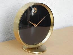 brass movado round mantel clock i like mikes mid century modern