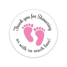 Baby Shower Logo by Baby Shower Stickers Amazon Com