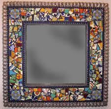 Brown Mosaic Bathroom Mirror by Best 25 Tile Mirror Frames Ideas On Pinterest Tile Mirror Dyi