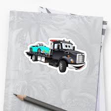 Black Tow Truck Flatbed Cartoon