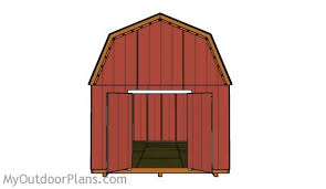 12x16 Gambrel Storage Shed Plans Free by 12x16 Barn Shed Plans Myoutdoorplans Free Woodworking Plans
