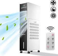 aufun mobile klimaanlage ohne abluftschlauch 8 l tank 80w luftkühler mit verdunstungskühlung klimagerät mit fernbedienung und timer 3