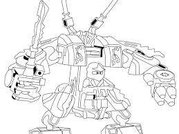 Download Lego Ninjago Kai Fire Mech Coloring Page