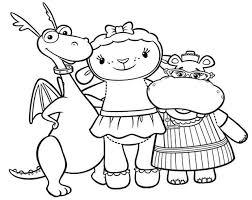Doc Mcstuffins Coloring Pages Stuffy Lambie Hallie