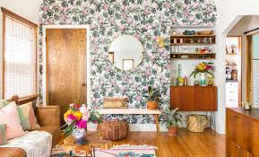 A Gut Rehab With Unforgettable Walls In Los Angeles – Design*Sponge Unique Wallpaper Decorating Ideas Decor Farrow Ball Craftsmen In Paint And Paper Home Design Modern Hd Best Forest Wallpaper Mural And Beautiful Interior Wallpapers Gallery Hallway Ideas Glorious Dramatic Contemporary Border Designs Lynne Golob Gelfman Projects Cool Hunting Kitchen 10 Of The Best Excellent For Homes Images Idea Home 25 Gorgeous Entryways Clad
