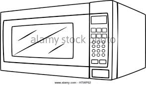 Illustration of Isolated Microwave Oven Cartoon Drawing Vector EPS 8 Stock Image