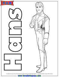 Prince Hans Frozen Coloring Page