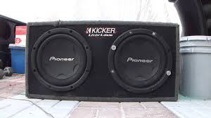 100 Pioneer Truck Speakers How Sound 12 Inch Sub Woofer Speakers KICKER Car Home YouTube