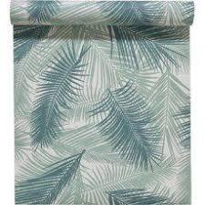 leroy merlin papier peint chambre papier peint feuille de palme vert paradise blues greens