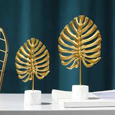 eisen monstera leaf modell figuren skulptur für wohnzimmer