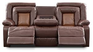 living room double recliner sofa with console lane talon
