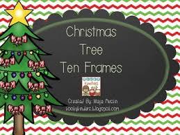Christmas Tree Ten Frames By KookyKinders