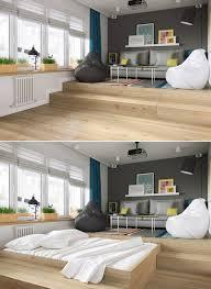 wohnzimmer podest mit bett in moderner ausführung und mit