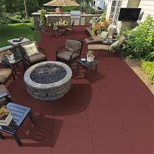 patio rubber floor tile sterling patio flooring 2 inch terra cotta
