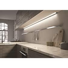 domus line led unterbauleuchte küche flow aluminium