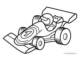 Elegant Race Car Coloring Page 41 For Download Pages With