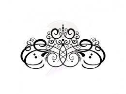 Cartoon Wedding Swirls Clipart Illustration Image