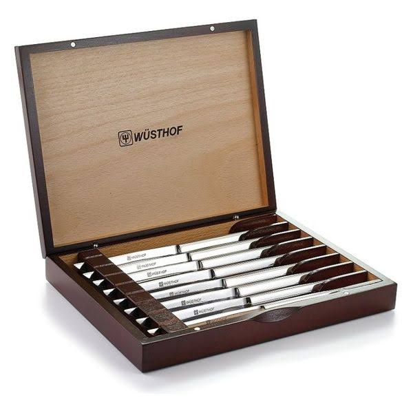 Wusthof Stainless-Steel Steak Knife Set with Wooden Gift Box - 8 Pieces