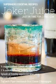 2 Superhero Comic-Con Cocktail Recipes | Cocktail Recipes, Joker ... 18 Best Illustrated Recipe Images On Pinterest Cocktails Looking For A Guide To Cocktail Bars In Barcelona You Found It Worst Drinks Order At Bar Money 12 Awesome Bars Perfect For Rainyday In Philly Brand New Harmony Of The Seas Menus 2017 30 Best Mocktail Recipes Easy Nonalcoholic Mixed Pubs Sydney Events Time Out 25 Popular Mixed Drinks Ideas Pinnacle Vodka Top 50 Sweet Alcoholic Ideas On The 10 Jaipur India