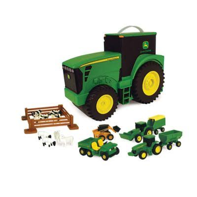 John Deere Fun on the Go Tractor Playset - with 18 Vehicles/Animals