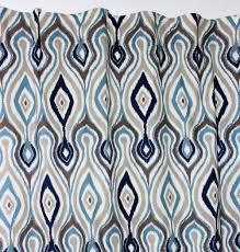Geometric Pattern Window Curtains by Vezo Home Printed Vintage Retro Geometric Pattern Linen Window