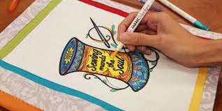 Free Project Instructions To Create A Fabric Coloring Book