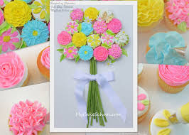 Bouquet Of Cupcakes Tutorial MyCakeSchool