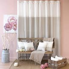 vorhang mit spitze 140 x h240 cm romantique beige