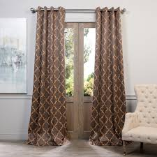 Moroccan Lattice Curtain Panels by 108 Inch Gold Moroccan Curtains Panel Pair Set Dark Brown Color