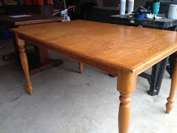 Refinished Oak Farmhouse Table Before & After