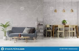 wohnzimmer im loft stil und esszimmer mit beton