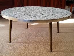 mid century modern eames era mosaic tile coffee table