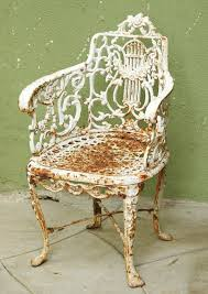Lyre Back Chairs History by Pair Of Mid 19th Century Cast Iron Lyre Back Garden Chairs For