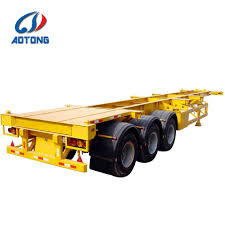 100 Truck Trailer Manufacturers China Aotong 3 Axle Terminal Port Skeleton Container S