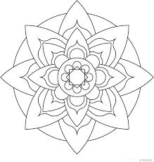 Free Mandalas Coloring Flower 3 Page