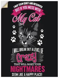 artland wandbild spruch für katzenliebhaber humor 1 st in vielen größen produktarten alubild outdoorbild für den außenbereich