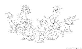 Eevee Coloring Sheets Pages To Print Colouring