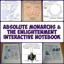 Absolute Monarchs And Enlightenment Interactive Notebook Grades 9