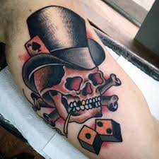 Unique Old School Skull Tattoo Designs 69 On Rose With