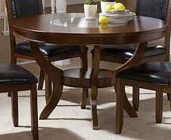 Round Dining Room Sets by Homelegance Avalon Round Dining Table With Glass Insert 1205 48