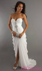 celebrity prom dresses evening gowns promgirl long white