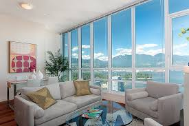 Beautiful Sauder Harbor View In Contemporary Vancouver With Gray Next To Coastal Living Room Alongside Cow