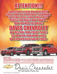 Houston Credit Restore - Davis Chevrolet Auto Financing
