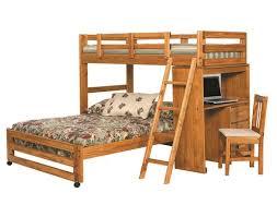 Woodcrest Heartland Twin over Full Loft Bed with Desk DK1100