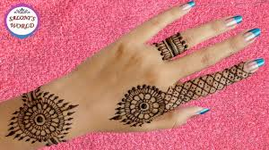 Super Easy Back Hand Henna Mehndi Designs For Beginners