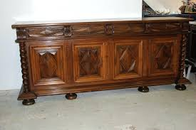 Antique Oak Sideboard Buffet With Mirror Sideboards Amazing Dining Room Servers