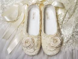 Victoria Wedding Shoes Bridal Ballet Flat Vintage Lace Swarovski Crystals