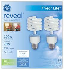 ge lighting 67454 reveal spiral cfl 26 watt 100 watt replacement