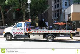 AAA Flatbed Tow Truck. Editorial Photography. Image Of Engines ...