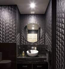 Designer Kitchen Sinks Powder Room Contemporary With Dark Colors Recessed Lighting